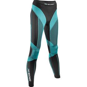 X-Bionic W's Effektor Power Running Pants Long Black/Turquoise